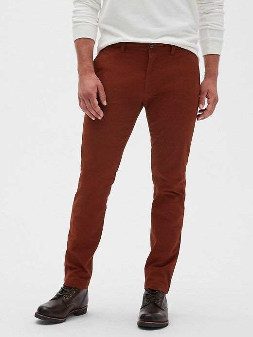 Banana Republic Men's Fulton Skinny-Fit Stretch Chinos (Muir Wood)