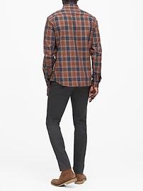Untucked Slim-Fit Flannel Shirt