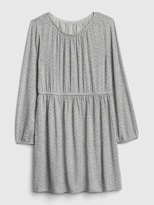 Kids Dot Shirred Dress
