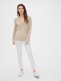 Boucle V-Neck Sweater