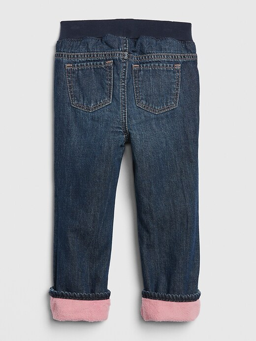 Toddler Pull-On Lined Straight Jeans