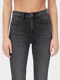 High Rise Cigarette Jeans with Secret Smoothing Pockets
