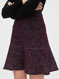 Flutter Mini Skirt in Boucle