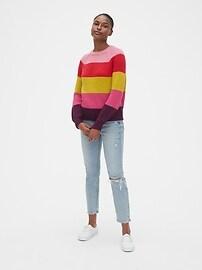 Multicolor Stripe Crewneck Sweater