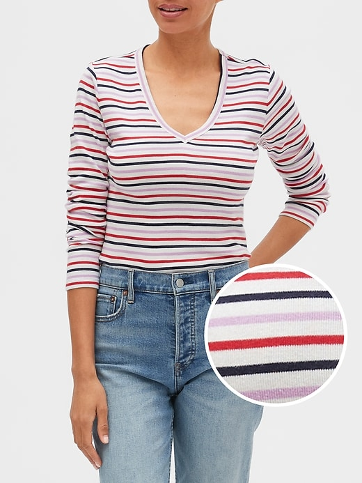 Favorite Stripe V-Neck T-Shirt