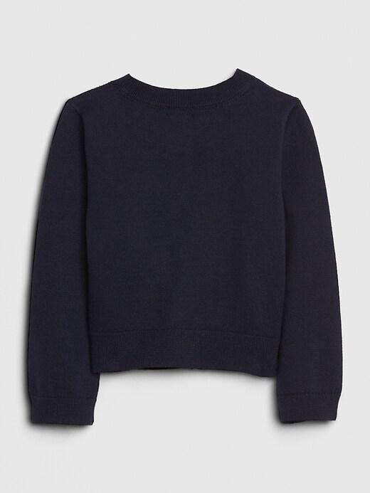 Toddler Crop Pointelle Cardigan Sweater