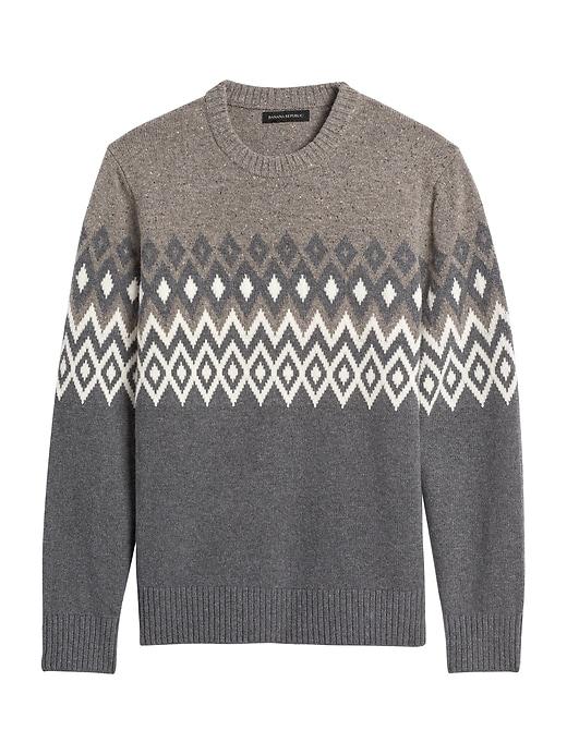Fair Isle Crew-Neck Sweater