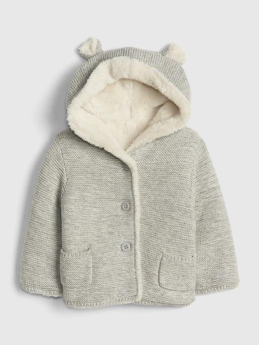 Baby Brannan Bear Sherpa-Lined Sweater