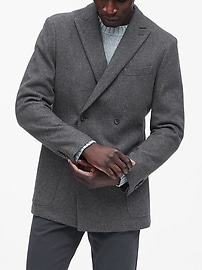 Slim Double-Breasted Blazer