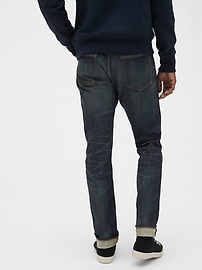 Selvedge Slim Jeans with GapFlex