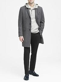 Slim Solid Italian Wool Suit Pant