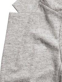 Unstructured Wool-Blend Knit Blazer