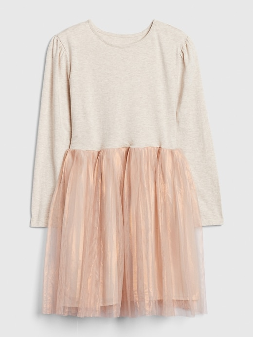 Kids Mix-Media Tulle Dress