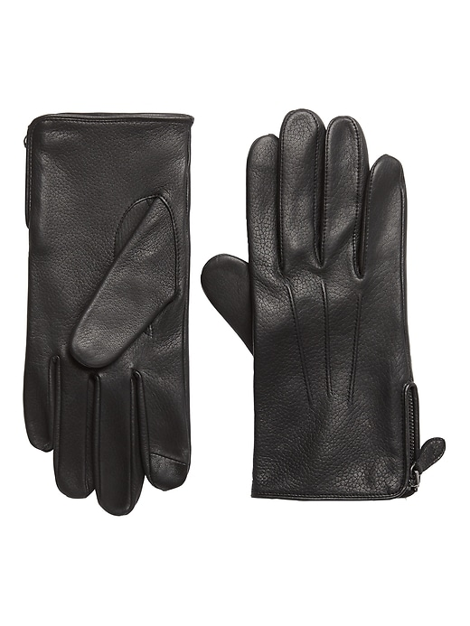 Moto Zip Leather Glove