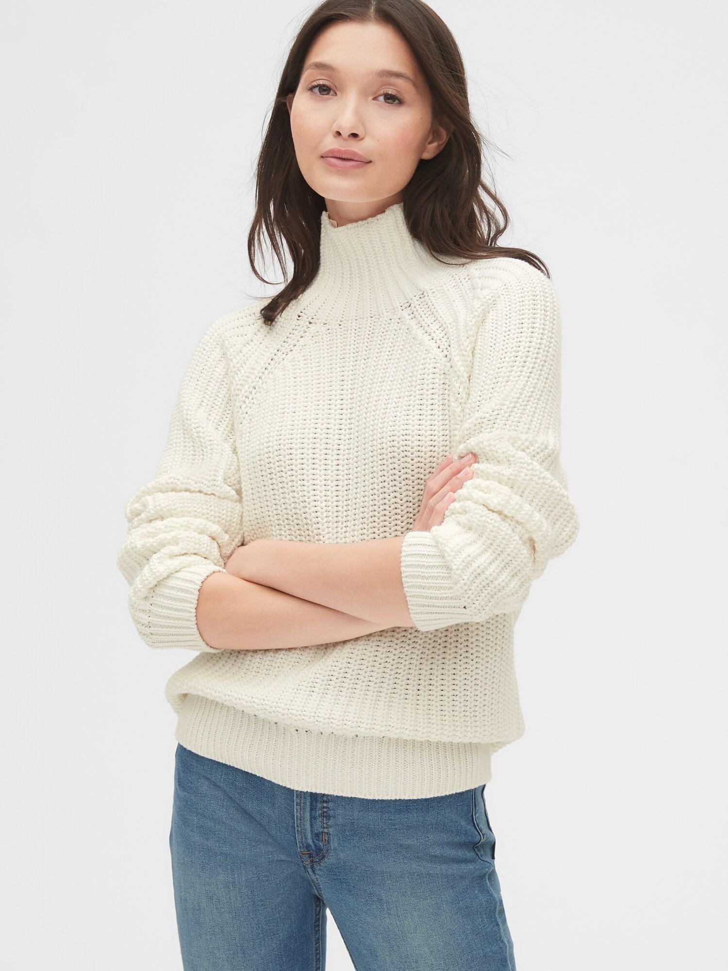 シェーカーステッチタートルネックセーター