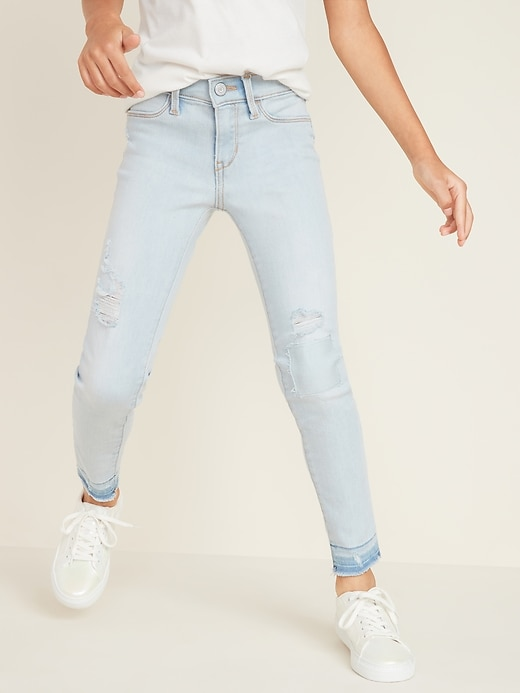 Ballerina Built-In Tough Distressed Crop Jeggings for Girls