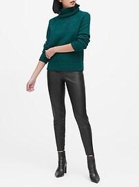 Pantalon en cuir végétalien, coupe legging Devon