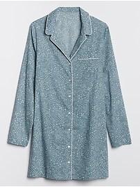 Print Sleep Shirt in Poplin