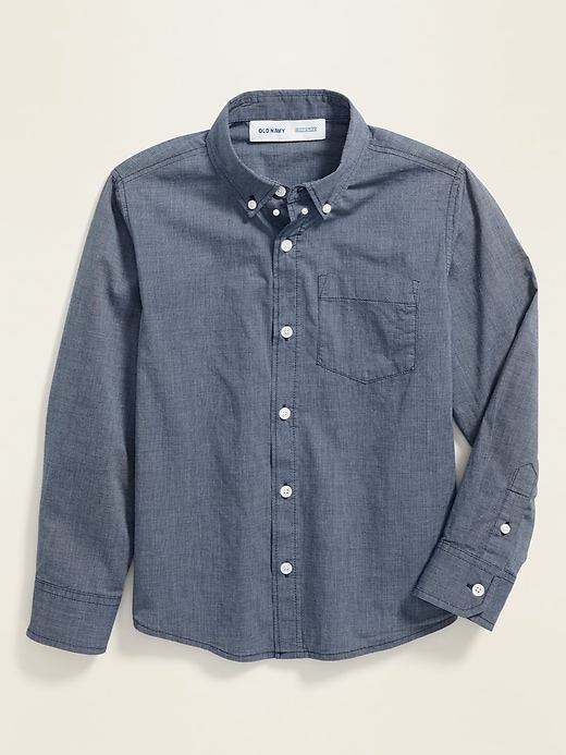 Built-In Flex Classic Poplin Shirt for Boys