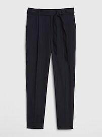 High Rise Stripe Tie-Waist Pants