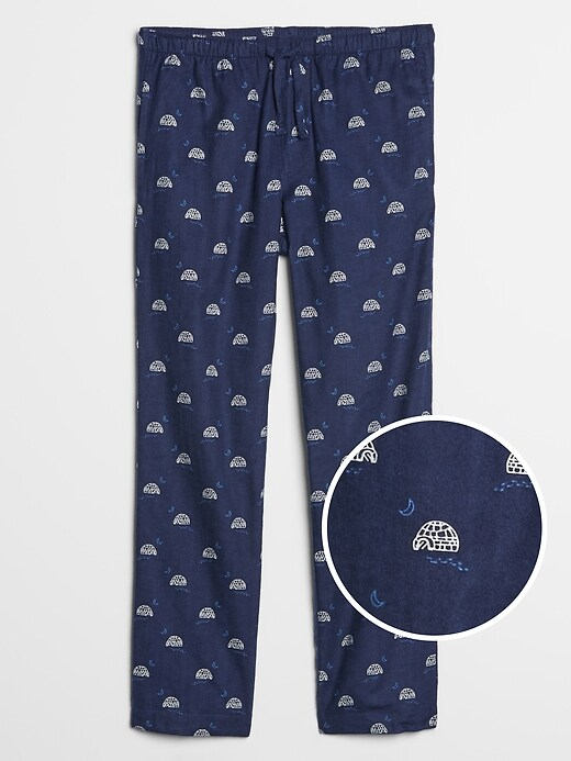 Pajama Pants in Flannel Twill