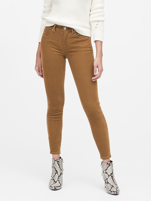 Mid-Rise Skinny Corduroy Pant
