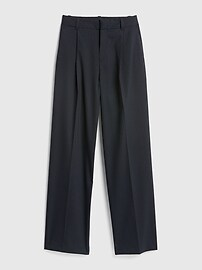 High Rise Pleated Stripe Wide-Leg Pants