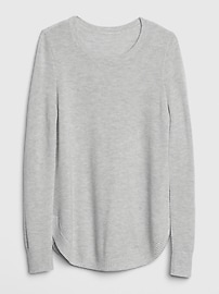 True Soft Textured Crewneck Tunic Sweater