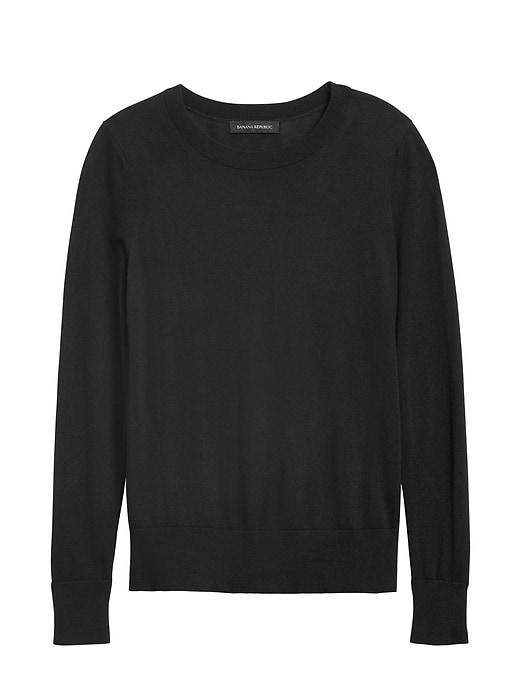 Silk Cashmere Crew-Neck Sweater
