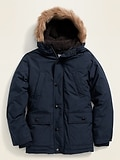 Hooded Faux-Fur Trim Parka for Boys ON