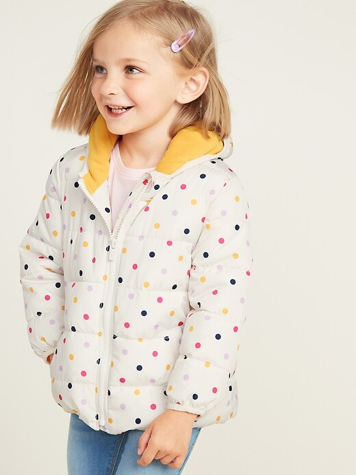 Hooded Frost-Free Puffer Jacket for Toddler Girls