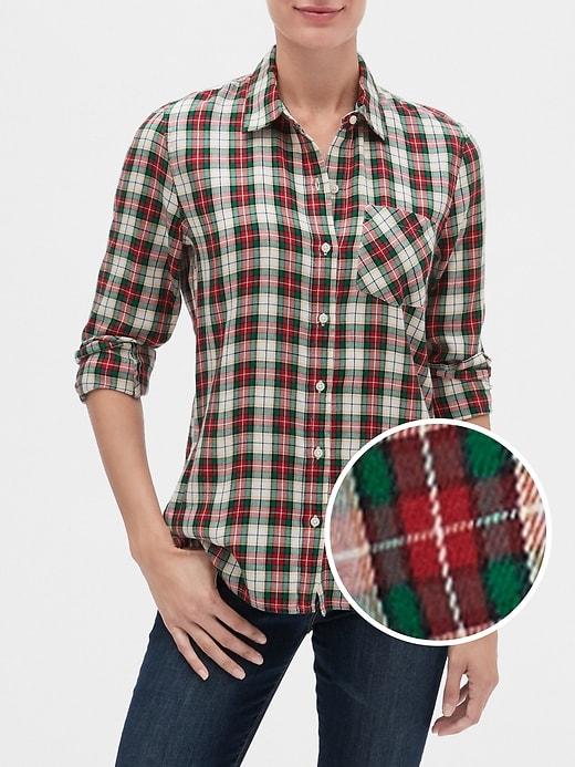 Plaid Shirt in Twill