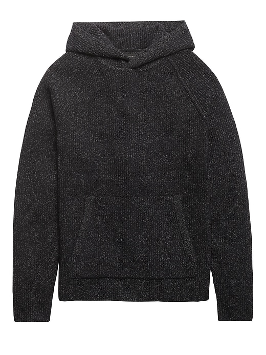 Wool-Blend Sweater Hoodie