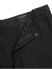 Pantalon smoking fuselé en laine italienne, coupe étroite