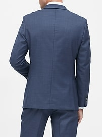 Slim Italian Sharkskin Suit Jacket