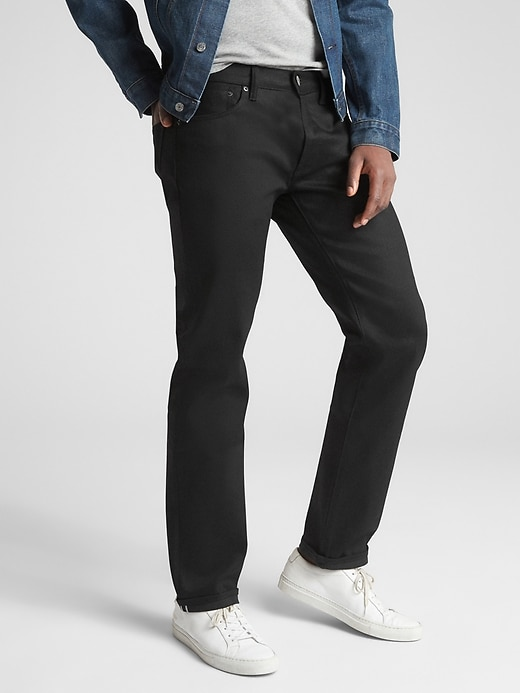 Selvedge Straight Jeans with GapFlex