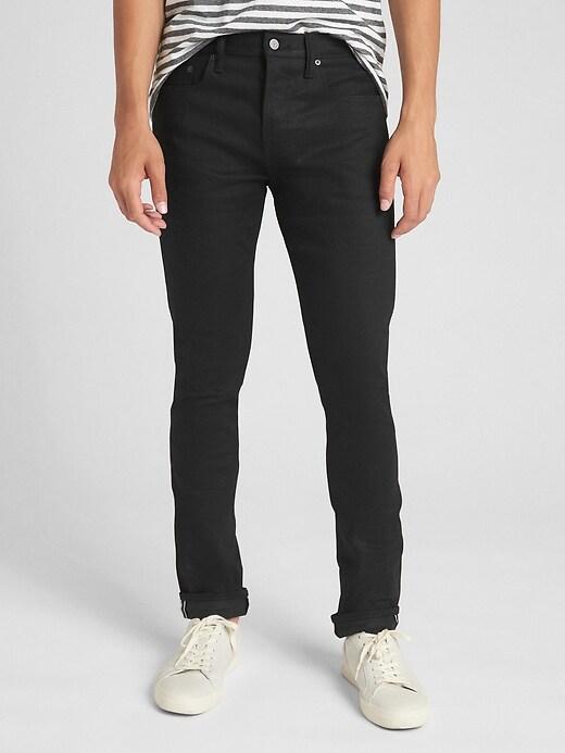 Selvedge Skinny Jeans with GapFlex
