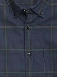 Chemise en flanelle, coupe cintrée à porter sortie