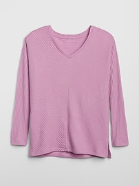 Textured V-Neck Top