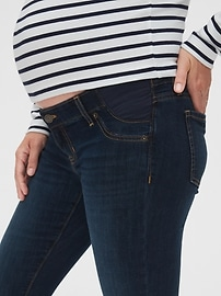 Maternity Inset Panel Distressed Favorite Jeggings