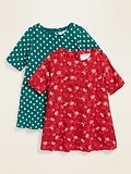 2-Pack Old Navy Toddler Girls Swing Dress
