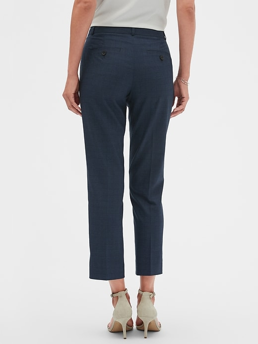 Machine Washable Avery Blue Plaid Suit Pant