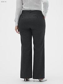 Washable Logan Charcoal Windowpane Suit Trouser
