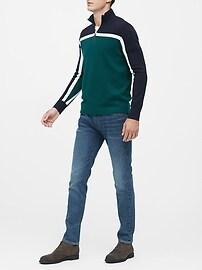 Color-Block Half-Zip Sweater