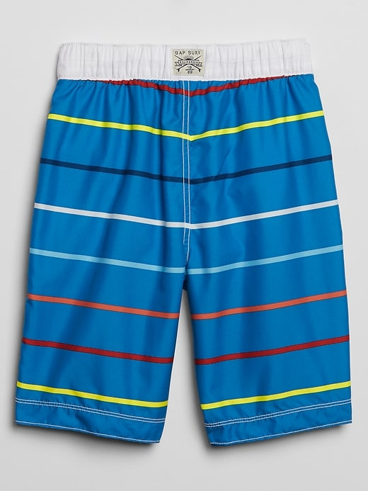 Kids Stripe Swim Trunks