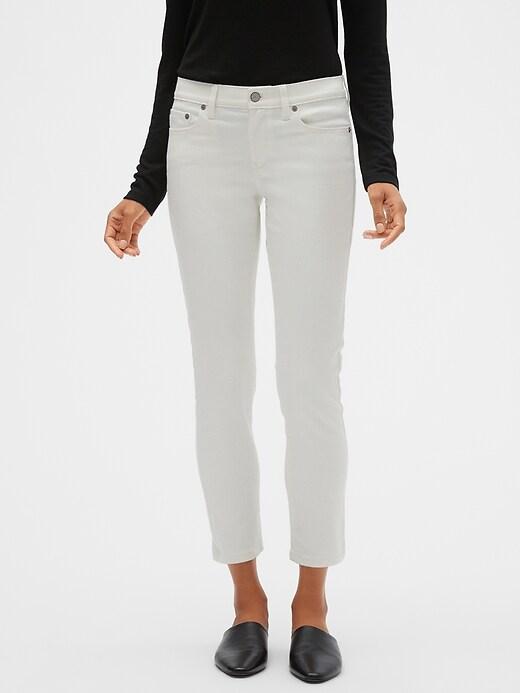 White Skinny Ankle Jean