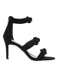Velvet Bare High-Heel Sandal