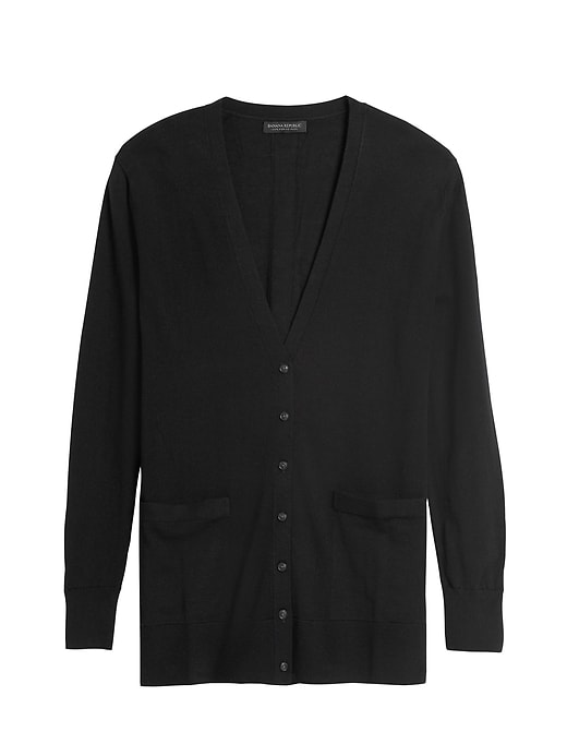 Washable Merino Boyfriend Cardigan Sweater
