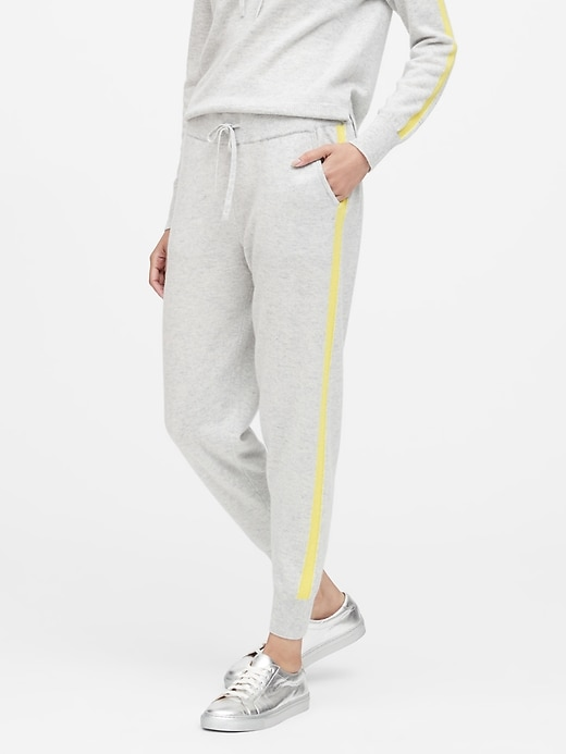 Cashmere Side-Stripe Joggers