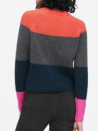 Petite Aire Color-Blocked Sweater